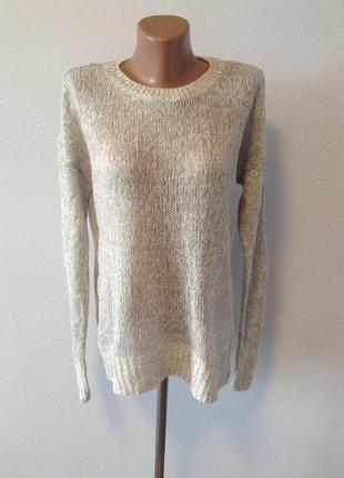 Серо-белый свитерок оверсайз / горячая цена/ скидки!