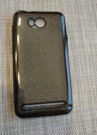 Чехол-накладка силиконовый с глиттером 2в1 remax на huawei y3 ii