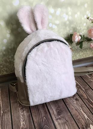 Меховой рюкзак с ушками