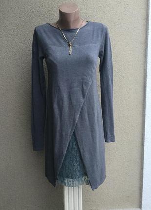 Комбинированное,трикотаж+кружево,гипюр платье,туника,маленький размер
