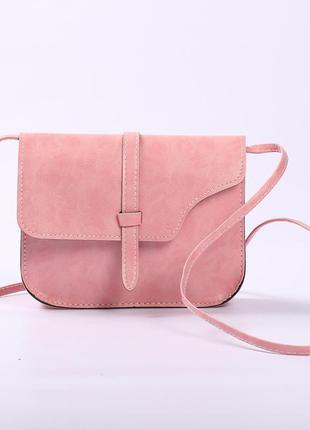 Супер цена! красивая маленькая сумочка, клатч нежно-розового цвета.