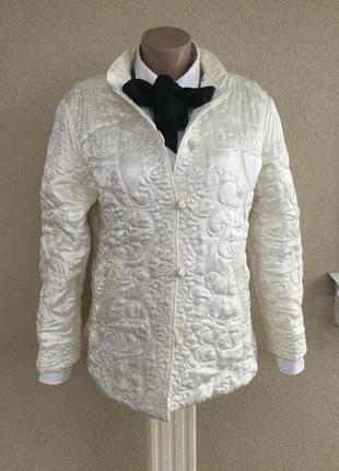 Эксклюзив.шелк100%,куртка стёганная,жакет,пиджак,восточный стиль