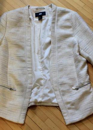 Нарядный пиджак с люрексом  h&m