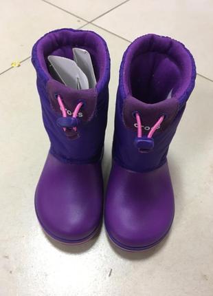 Зимние сапоги снегоходи crocs crocband lodgepoint boot kids р-25