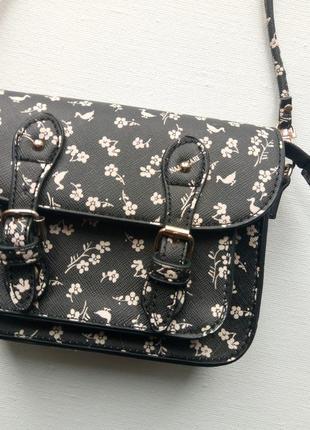 Милая маленькая сумочка на длинной ручке,клатч,черная сумочка в принт италия naj-oleari