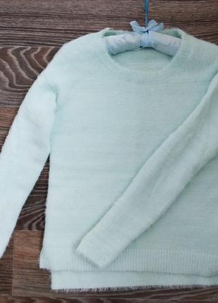 Свитер травка, пушистый свитер
