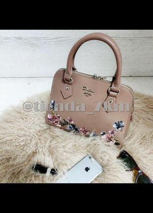 Женская сумка с вышивкой от david jones 5862-2 d.pink (т.розовый)