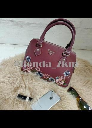 Женская сумка с вышивкой от david jones 5862-2 d.bordeaux (бордовый)