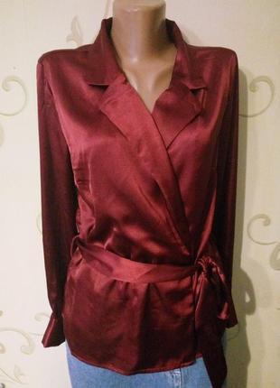 Распродажа ! vero moda . шикарная нарядная атласная блузка