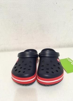 Кроксы сланцы сабо crocs crocband unisex navy/red6 фото