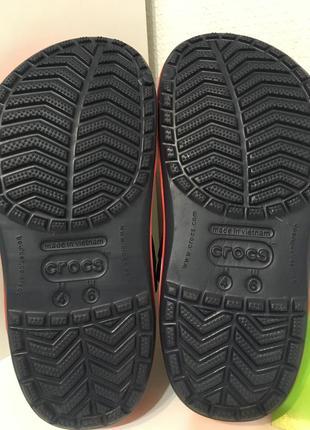 Кроксы сланцы сабо crocs crocband unisex navy/red7 фото