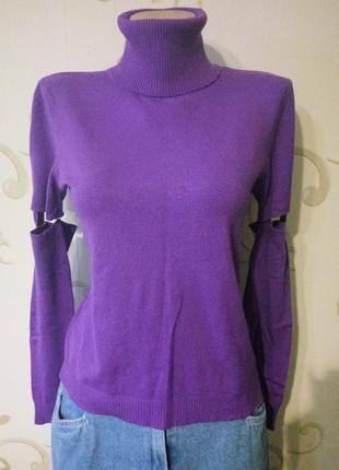 Распродажа ! oggi . свитер гольф со съёмными рукавами футболка 80% вискоза
