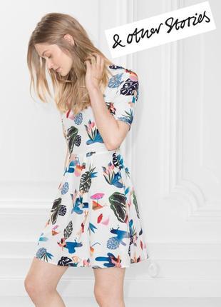 Красивое платье с открытой спиной из вискозы & other stories размер s/36/8.
