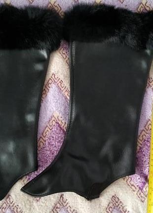 Гамаши, гетры для обуви с опушкой