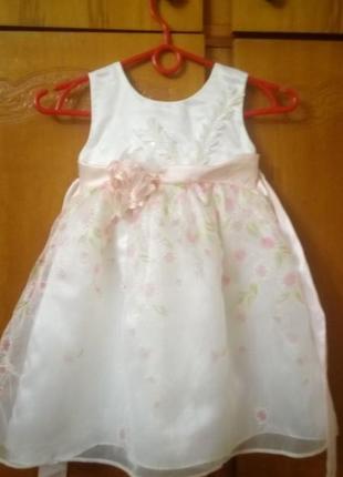 Платье на 2-3 годика.нарядное великолепие!