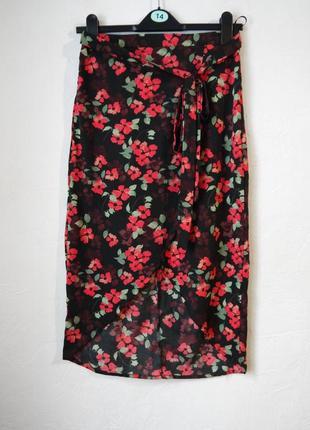 Летняя юбка с эффектом запаха
