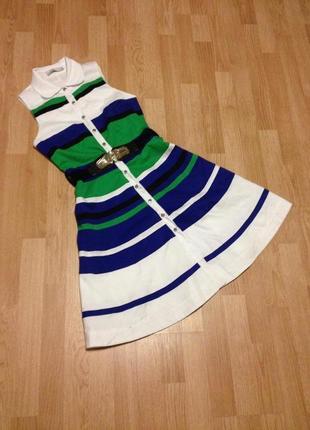 Платье летнее в цвете белый/зеленый/синий/черный