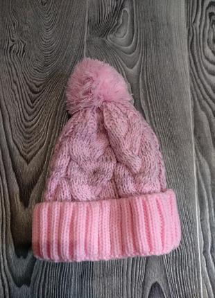 Зимняя вязаная шапка 3-4