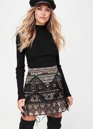 Красивая юбка c бахрамой