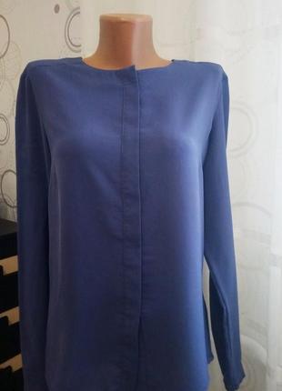 Блуза с удлиненной спинкой, шифон