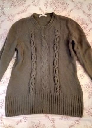 Кашемир кашемировый шерсть шерстяной свитер в косы, германия