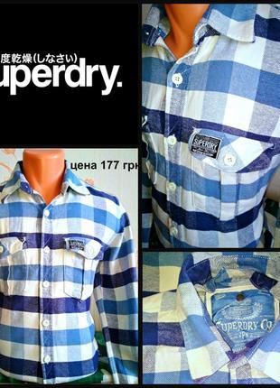 Рубашка из плотной ткани oт superdry, р. m пр-вo индия
