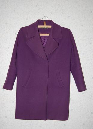 Стильне пальто oversize фіолетове