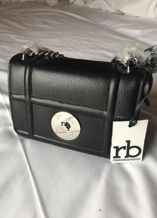 Новая чёрная сумка от итальянского бренда roccobarocco (оригинал)