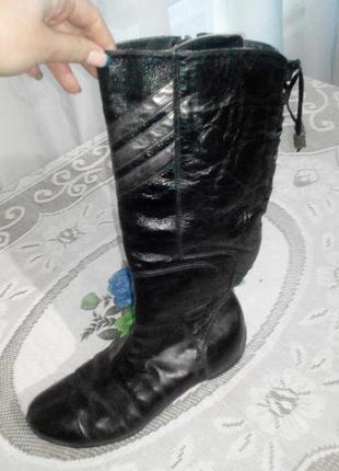 Кожанные зимние сапожки adidas