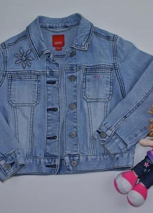 Джинсовая куртка, джинсовка esprit 4-5 лет