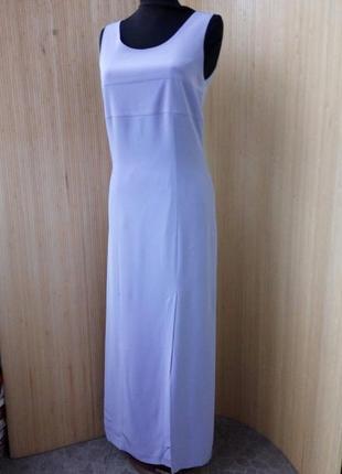 Лавандовое платье футляр с разрезом elinette xs/s