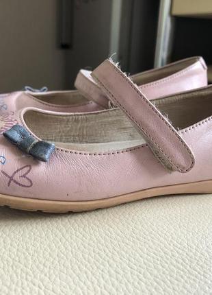 Туфли на девочку италия simone 27 размер 17.5 см по стельке кожа