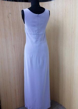 Лавандовое платье футляр с разрезом elinette xs/s4 фото