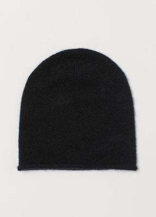 Шерстянная вязанная черная шапка от h&m, оригинал, англия