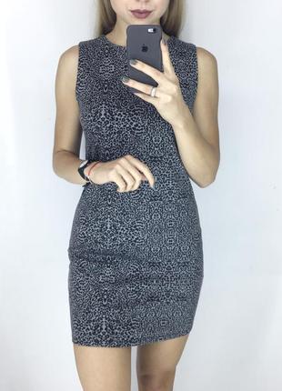Леопардовое платье футляр, плотная ткань