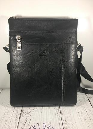 Стильная сумка мужская месенжер экокожа