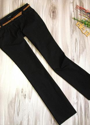 Коттоновые , фактурные брюки amisu на высокую девушку р-р eur 40-42