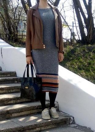 Платье стильное трикотаж р. s m l h&m