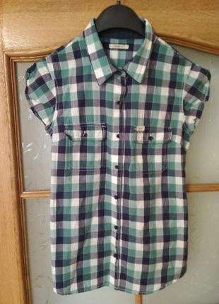 Бомбезная рубашка с коротким рукавом в клетку от lee, p. s