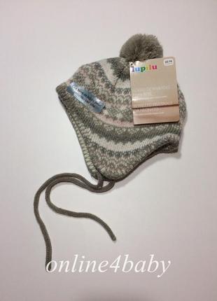 Детская флисовая шапка lupilu на мальчика 2-9 мес, рост 62/74