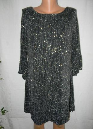 Нарядное блестящее платье-туника f&f