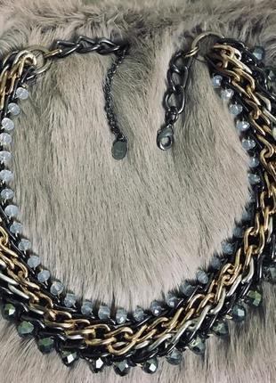 Колье ожерелье цепь украшение