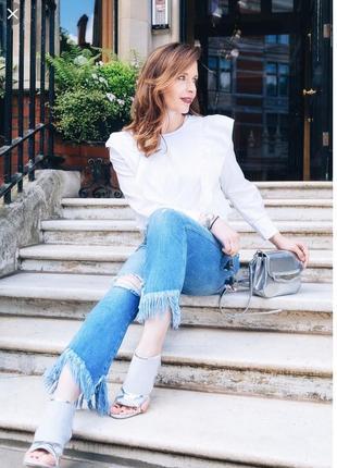 Крутезные джинсы с бахромой zara