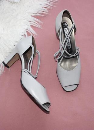 37 23,5см peter kaiser кожаные босоножки с закрытой пяткой туфли