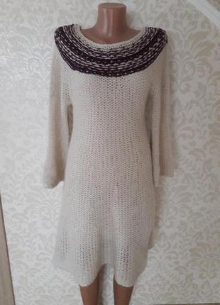 Теплющее вязаное платье...