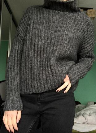 Супер тёплый свитер zara