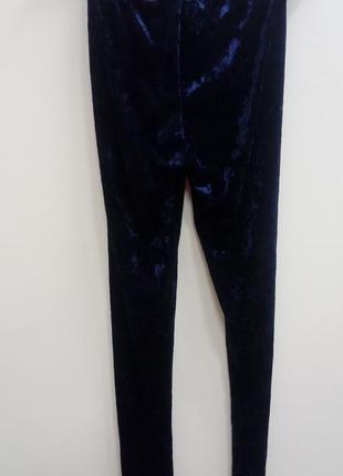 Женские синие бархатные брюки лосины esmara xs3