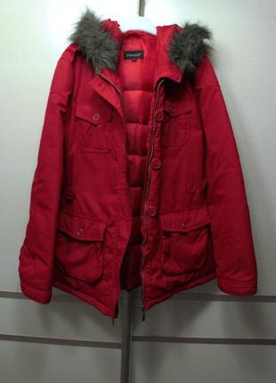 Оригинал essential куртка пуховик zara зима осень  насыщенный цвет