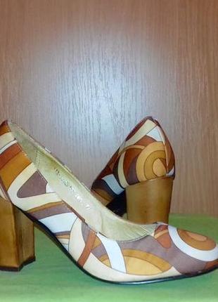 Цветные туфельки из ткани