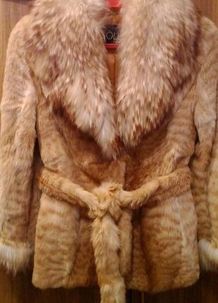 Шикарная шуба sollo мех камышовый кот ворот энот